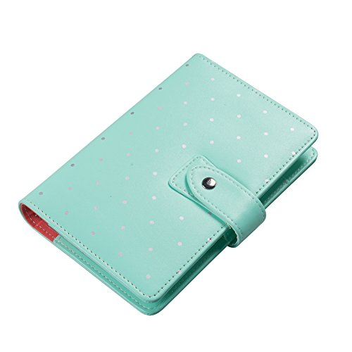CHANCE BOOK A5 size Polka Dots cute fashion personal organizer/notebook/calender/planner with insert paper (GREEN) (Personal Organizer A5 compare prices)