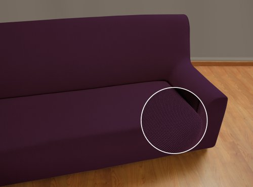 Velfont-2-er-Sofabezug-Universal-Lila-bielastisch