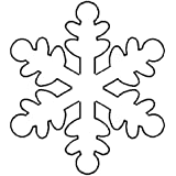 """Quilting Creations Snowflake Quilt Stencil, 5 x 5-1/2"""""""
