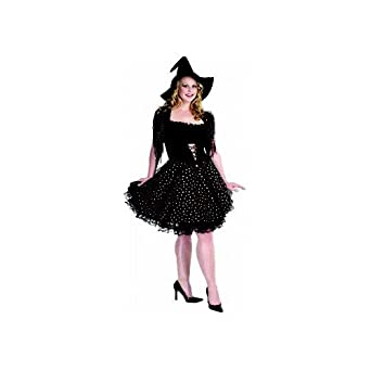 Glitter Witch (Copper) Adult Plus-Size Costume Size 26-28 XXX-Large (XXXL)