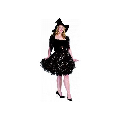 Glitter Witch (Copper) Adult Plus-Size Costume Size 18-20 X-Large (XL)