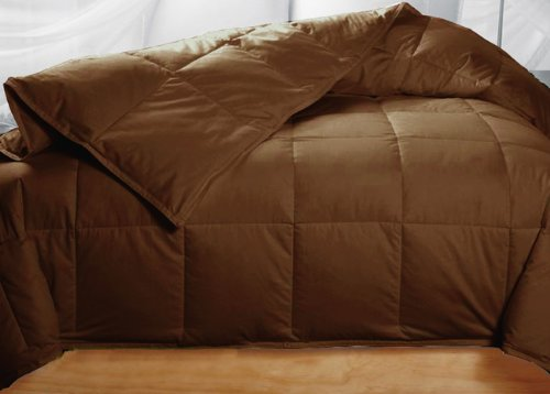 chocolate colored feather down comforter king size