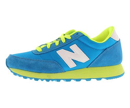 New Balance Women'S Wl501 Sneaker,Blue/Yellow,10 B Us