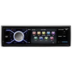 See Boss Audio BV7348B SINGLE DIN 3.2IN DVD RECEIVER BT ENABLED with AUDIO STREAMING Details