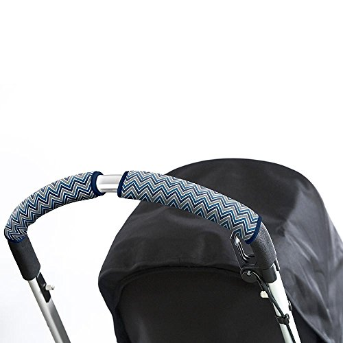 Choopie CityGrips Single Bar Grip Handle Covers for Stroller/Pram/Buggy Handlebars, Chevron Blue, Large - 1