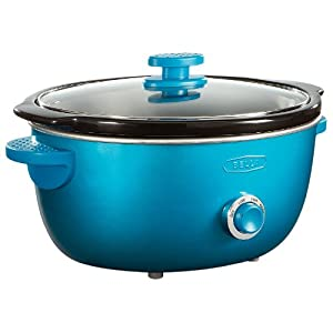 BELLA 13745 Dots Collection Slow Cooker, 6-Quart, Teal by BELLA
