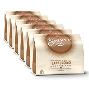 Get Senseo Cappuccino, Design, Recipe, Pack of 6, 6 x 8 Coffee Pods from Douwe Egberts