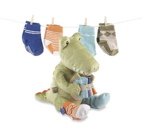 Baby Aspen Croc in Socks Plush Toy and Baby Socks