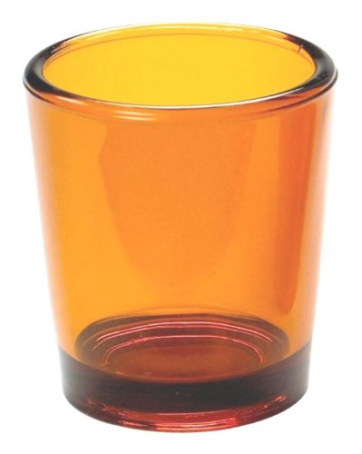 Biedermann & Sons 6 Glass Votive Candle Holder In Amber