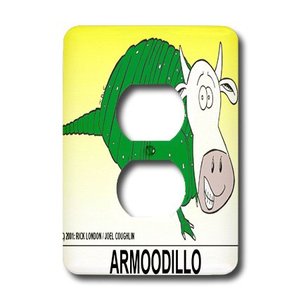 Lsp_1523_6 Londons Times Funny Cow Cartoons - Armooodillo - Light Switch Covers - 2 Plug Outlet Cover