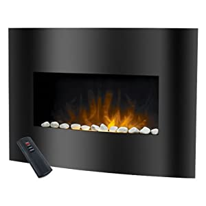 warm house black arched glass electric