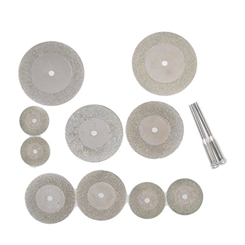 10 Pcs Diamond Grinding Slice Dremel Chopping Discs for Rotary equipment