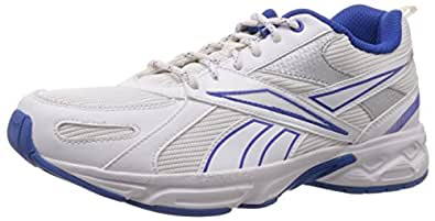 Reebok Women's Acciomax III White, Silver and Blue Running Shoes - 10 UK
