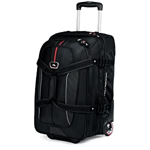 High Sierra Carry On Expandable Wheeled Duffel with Backpack Straps Black AT656-0