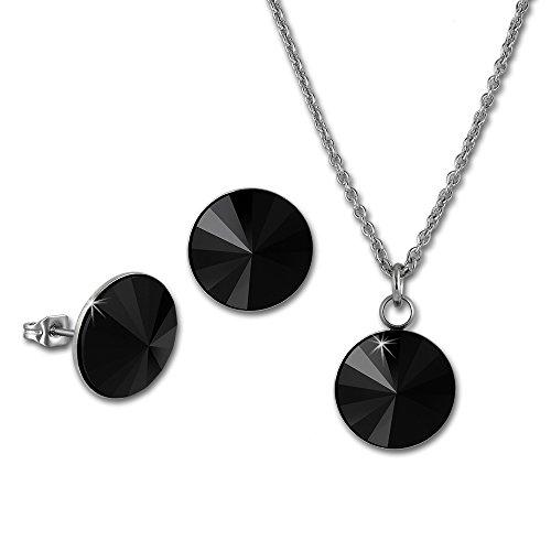 Set SterlinX - Orecchini e collana con Swarovski Elements in nero - in Stainless Steel Kollektion von SterlinX D1ESSS04S