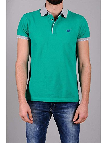 HENRY COTTON'S 8322750 84471 GREEN POLO Uomo GREEN S
