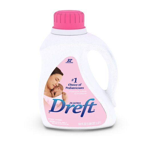 Dreft 2x Ultra Baby Liquid Laundry Detergent, 50-Ounce (Pack of 2) [Amazon Frustration-Free Packaging]