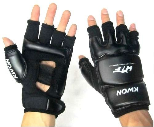 Blow special open finger gloves Tae kwon do martial arts karate Jiu-Jitsu (black, L)