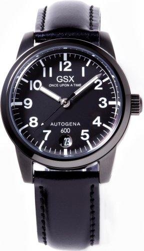 GSX (ジーエスエックス) 腕時計 GSX600BBK オートゲイナ メンズ レザーストラップ付属