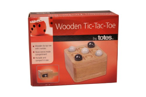 Portable Traviling Wooden Tic-Tac-Toe with Marbles - 1