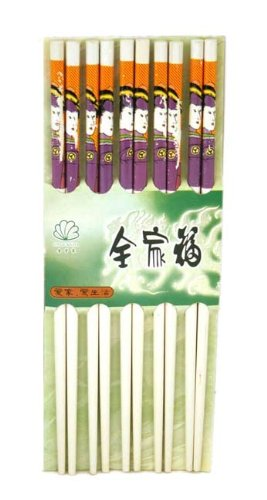 10 (5 Pairs) Chopsticks w. Japanese Geisha Painting10 (5 Pairs) Chopsticks w. Japanese Geisha Painting