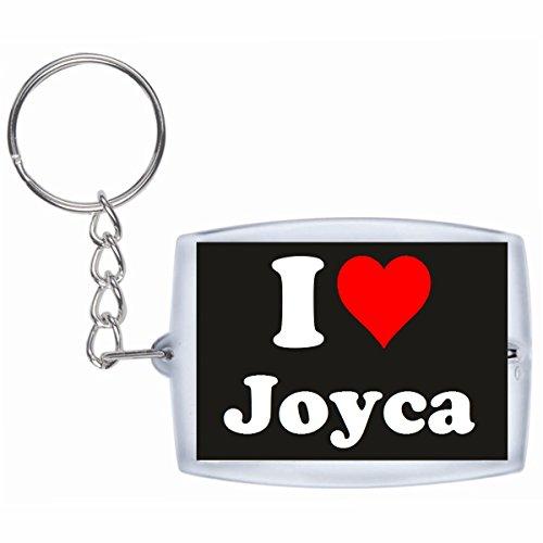 """ESCLUSIVO: Portachiavi/ Keychain """"I Love Joyca"""" in Nero, una grande idea regalo per il vostro partner, la famiglia e molti altri - regalo di Pasqua, Partner di Pasqua rimorchio, ciondoli zaino, sacchetto incanta, incanta amore, ti amo, amici, amanti, accessorio, Made in GERMANY."""
