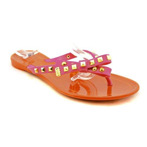 Ivanka Trump Women'S Natty Sandal,Coral/Tangerine Polyvinyl Chloride,7 M Us