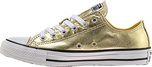 Converse Chuck Taylor All Star Lo Sneaker (Mens 6.5/Womens 8.5, Gold)