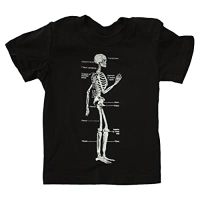 Happy Family Clothing Little Boys' Skeleton Diagram Bones Tshirt