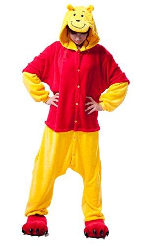 [Ddwolf Weenie Pajamas Halloween Costume Onesie Unisex Adult(yellow,M)] (Weenie Costumes)