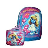 Smurfs Smurfette Girls Backpack with Lunch Box Lunchbox Backpack Set