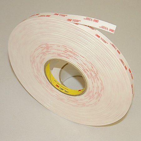 3M VHB Acrylic Foam Tape 4950 White, 1/2 in x 36 yd 45.0 mil [PRICE is per ROLL]