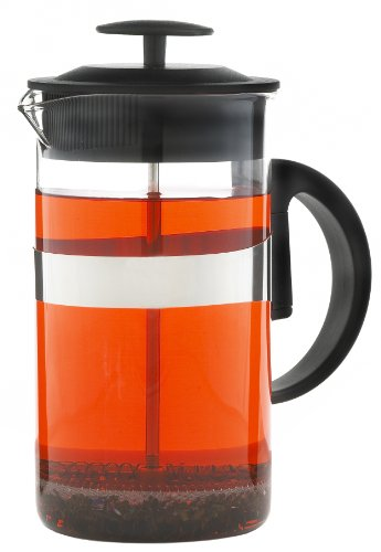 Grosche Zurich 1000 ml French Press Coffee Maker (8 cup or about 3 coffee mugs) Coffee and Tea Press; Borosilicate heatproof Glass