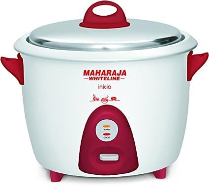 Maharaja-Whiteline-Inicio-700-Watt-Multi-Cooker-(Red/-White)