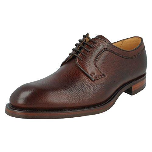 Da uomo Barker formale in pelle scarpe, stile F-Skye, (Cherry Grain), 44 EU