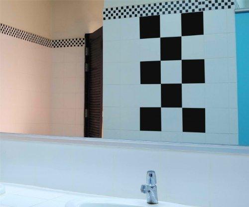 Autocollant carrelage 10 x 20 cm salle de bain cuisine for Carrelage 90x60