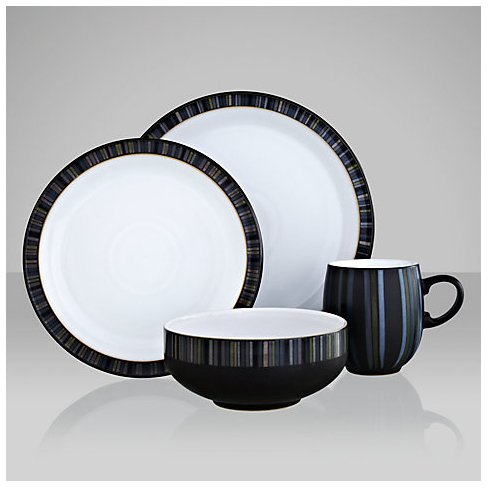 Details for Denby Jet Stripes 16 Piece Dinner Set from Denby
