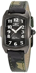 Invicta Women's 1032 Lupah Black Dial Green Camouflage Leather Watch