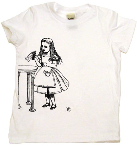 Alice In Wonderland Drink Me on Short Sleeve Toddler Fine Jersey T-shirt