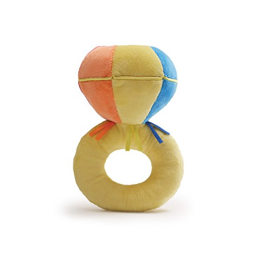 "Gund Baby Color Fun Ring Rattle Plush, Bling, 7.5"" (Discontinued by Manufacturer)"