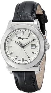 Salvatore Ferragamo Women's F63SBQ9902 S009 1898 Genuine Leather Date Watch by Salvatore Ferragamo