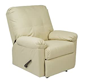 OSP Designs Kensington Recliner Chair, Cream