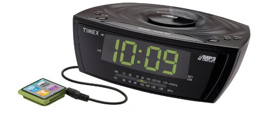 Timex T227 Large Display Alarm Clock Radio with MP3 Line-In (Black)