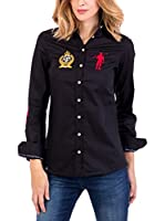 Polo Club Camisa Mujer Rigby Brand Sra (Negro)