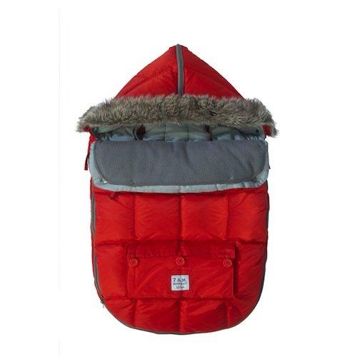 Imagen de 7 a.m. Enfant Le Sac Igloo extensible bebé bolsa Bunting Adaptable para cochecitos, Red, Medium
