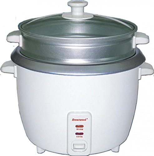 Brentwood 8 Cup Rice Cooker With Steamer In White (ts-180s)
