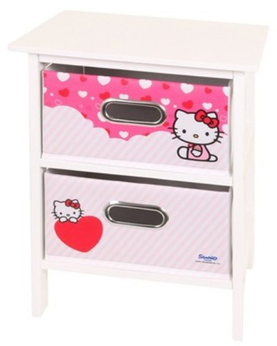 Hello Kitty 2 Drawer White And Pink Bedroom Storage front-913171
