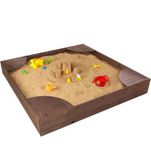 KidKraft Backyard Sandbox (Espresso)