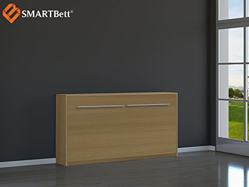 Armario Smart cama 90 x 200 cm para cama de invitados horizontal de haya