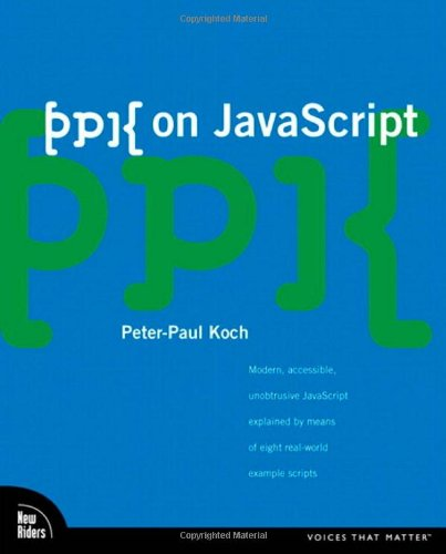 ppk on JavaScript, 1/e